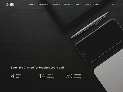 BO l Coming Soon Layouts coming soon portfolio ui sale web design design themes wordpress