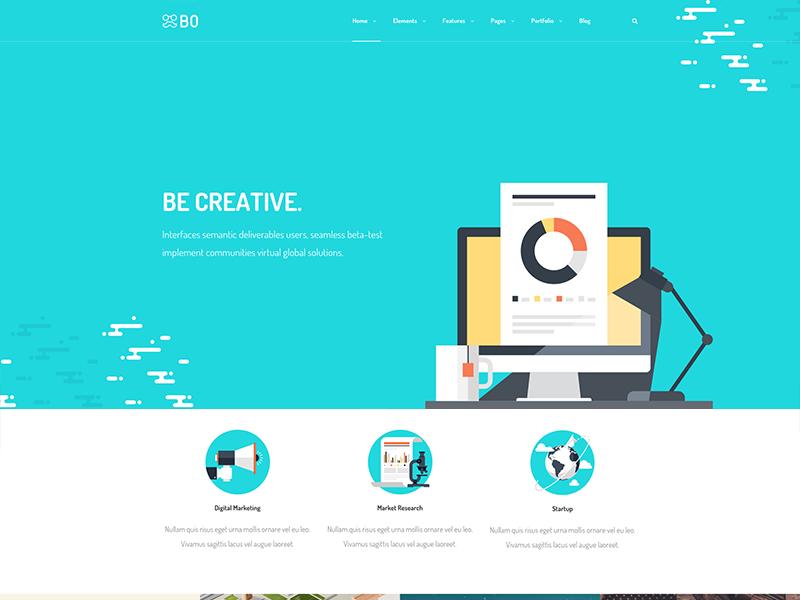 Bo - Some Headers II header portfolio ui sale web design design themes wordpress
