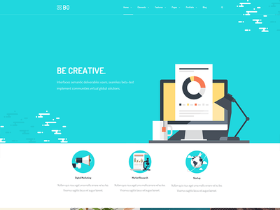 Bo - Some Headers II header portfolio ui sale web design design themes wordpress