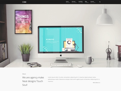 Bo - Magic Agency html5 bo portfolio ui sale web design design themes wordpress