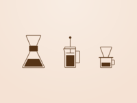 Coffee Brewing Icons