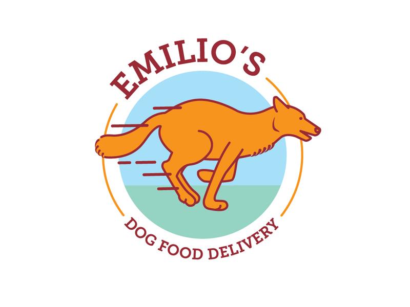 Emilios  Dog Food Delivery Logo vector art vector logo design branding design logo