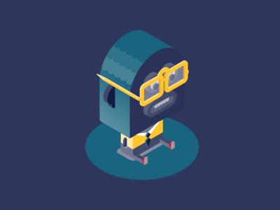 Monocle team - Client illustration monocle character fun isometric design glasses boss client big lips