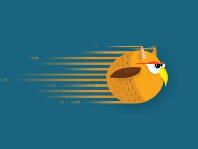 Owl series illustration vector grumpy speed character owl