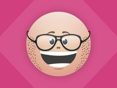 New glasses. illustration vector illustrator bold black me glasses pinos avatar