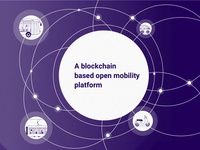 Open mobility platform icon typography logo vehicles scooter bus car design branding