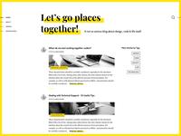 Yellow Blog Design