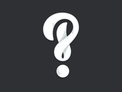 Interrobang hand lettering typography type custom interrobang shades curves