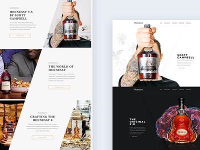 Hennessy Exploration beverage alcohol cognac style exploration redesign website