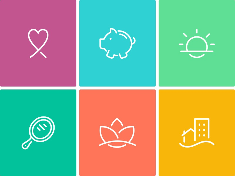 Dribbble gather icons