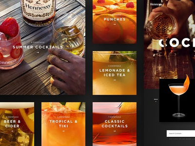 Hennessy Cocktails Page collections categories cognac alcohol recipes drinks cocktails tiles website