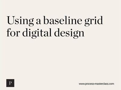 Using a baseline grid web design web typogaphy