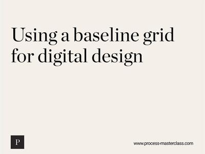 Using a baseline grid web design web typogaphy