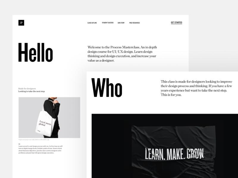 New landing page web website