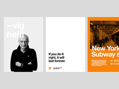 Massimo Vignelli  inspiration helvetica new york vignelli massimo clean typography crisp swiss legacy