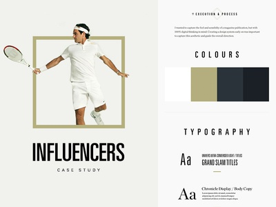 Influencers - Behance Case Study case study behance influencers heroes tennis federer design process