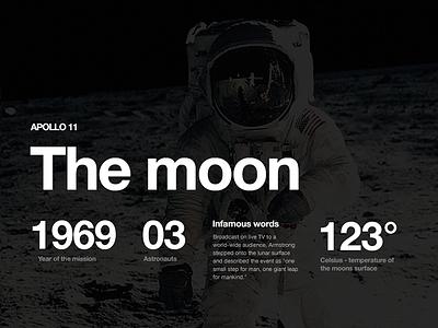 Moon space helvetica moon landing nasa black white grid
