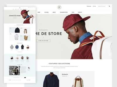 Shop shop ecommerce theme pixelunion store clean minimal
