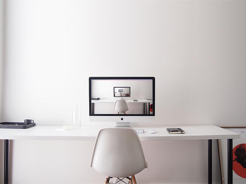 Workspace freelance workspace office home desk studio droste effect minimal muji
