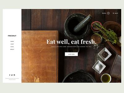 Food - WIP food theme lato playfair simple minimal typography