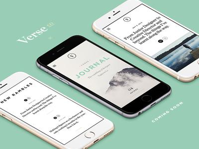 Verse Mobile typography tips mobile blog resource design verse