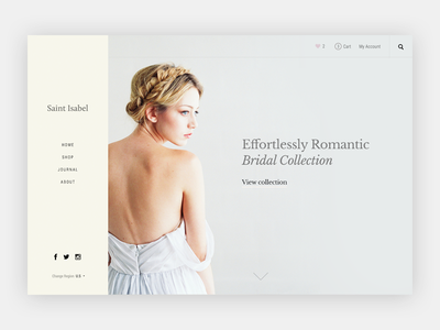Bridal ecommerce shop typography minimal soft bridal
