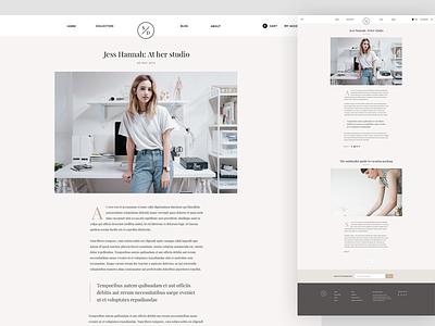 Blog minimal simple shop google fonts typography blog