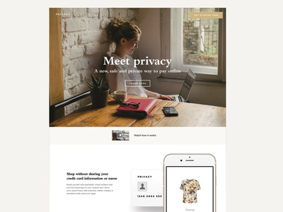 Privacy credit card web typography concept startups startup