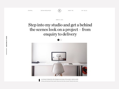 Get behind the scenes on a project – from enquiry to delivery resource freelance freelancing tips design article post verse blog