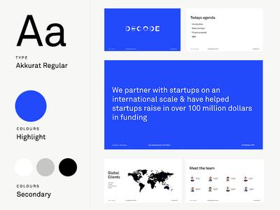 Slide Deck typography angelinvestor investment seed startup funding presentation slide slidedeck
