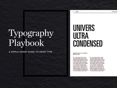 Typography Playbook fonts type book to how lesson ebook typography