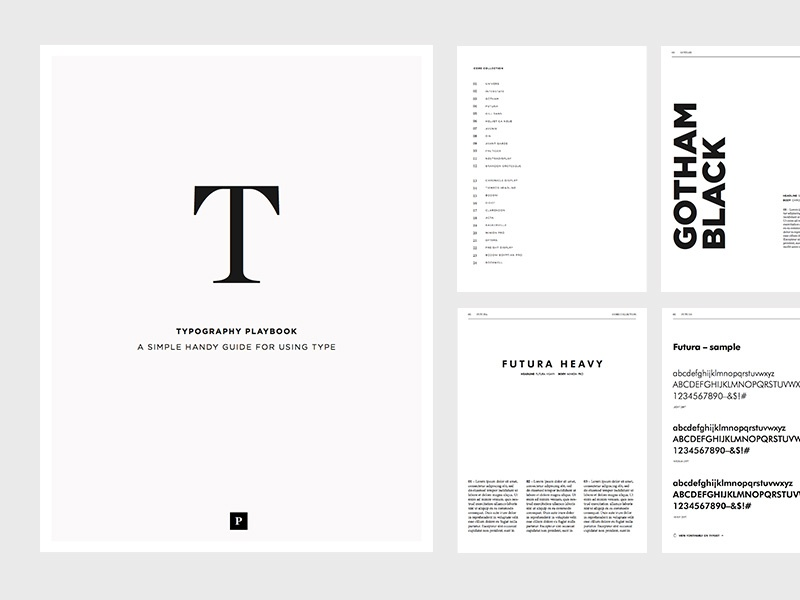 Typography Playbook book simple design web fonts type learning lessons typography