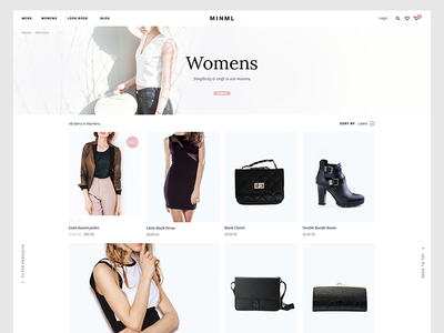 Product listing store womens fashion ecommerce