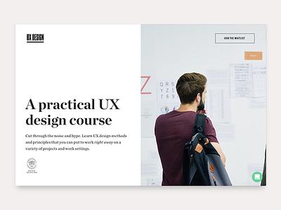 UX Design Masterclass course class design ux