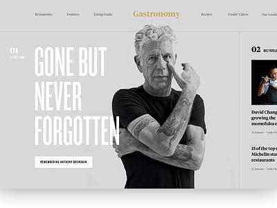 Gastronomy - Zine webdesign web design lessons minimal course design typography