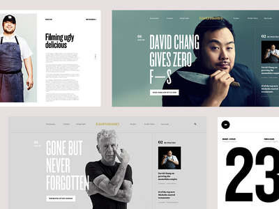 Gastronomy Zine grid editorial layout website editorial course webdesign