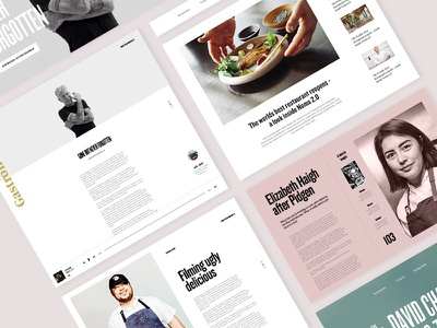 Gastronomy Zine - Components components webdesign course editorial website editorial layout grid