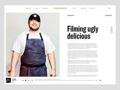 Gastronomy Prototype website podcast editorial course web design webdesign protoype principle