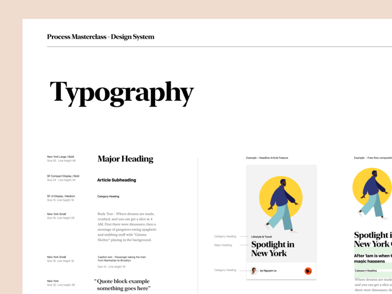 Process Masterclass - Design Systems lesson class mobile typography design systems