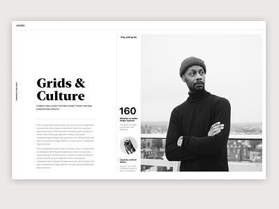 Grids - Layout exercise and typesetting minimal webdesign typogaphy