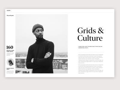 Grids - Layout exercise and typesetting minimal webdesign typogaphy