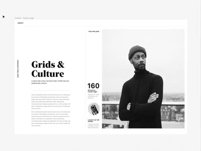 Grids BTS - figma process minimal design editorial typography