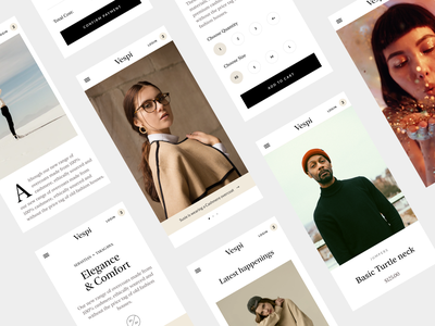 Figma - Mobile case study - Process Masterclass minimal figma design system ecommerce mobile ui mobile