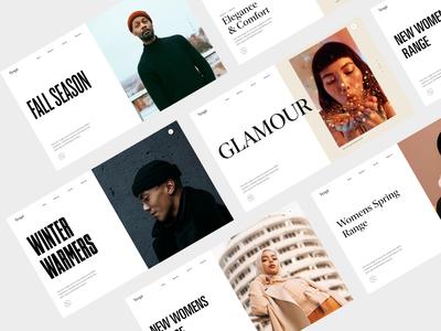 Homepage - Hero banner designs ecommerce ui typography web