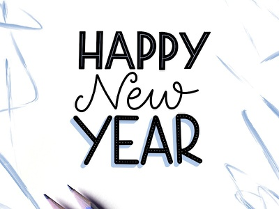 Happy New Year - Hand Lettered Art letters letteringartist handlettering handlettered typography calligraphy art lettering