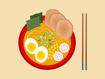 times new ramen interaction design food ramen digital illustration sketch