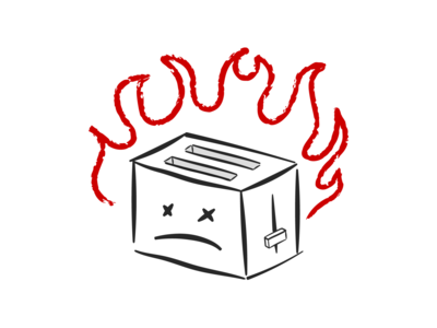 Please don't kill the toasters doodle dead fire toaster
