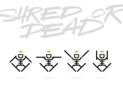 HAIL TO THE SKI-LETON KING skiing king skileton skeleton ski shred