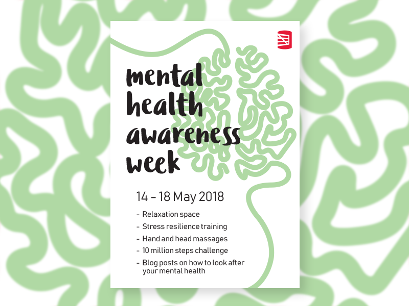 Back In May It Was Mental Health Awareness Week Here The UK Heres One Of Internal Posters I Did To Promote Some Things Redgate Doing For