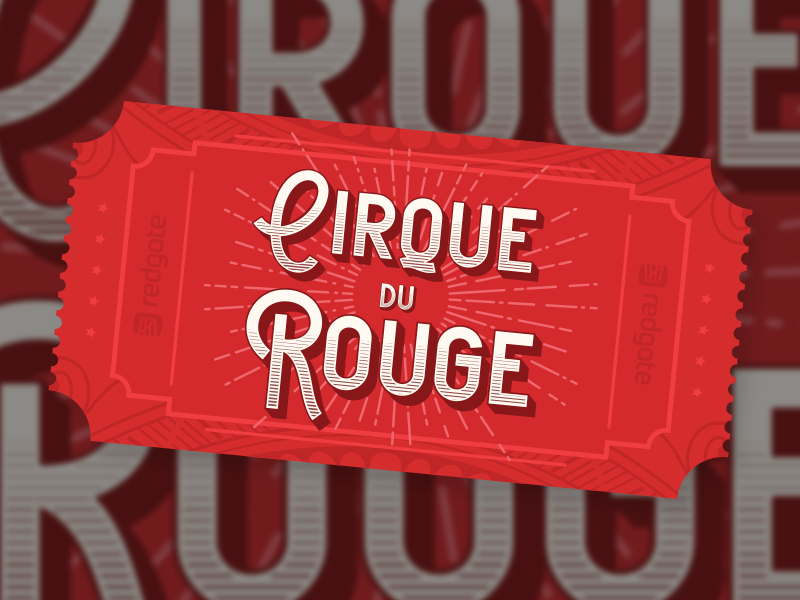 Cirque du Rouge ticket rouge christmas party vintage ticket circus